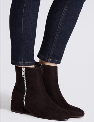 Marks & Spencer Block Heel Ankle Boots Black
