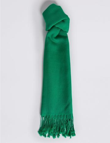 Marks & Spencer Modal Rich Pashminetta Scarf Emerald