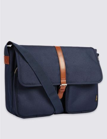 Marks & Spencer Cordura® Scuff Resistant Messenger Bag Navy