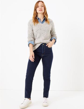 Marks & Spencer Petite Sculpt & Lift™ Jeans Indigo