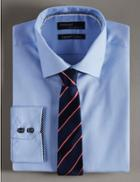 Marks & Spencer Official England Pure Silk Striped Tie Navy/red