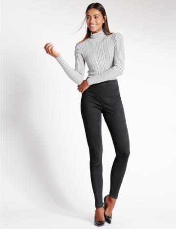 Marks & Spencer Cotton Rich Jeggings Grey