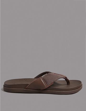 Marks & Spencer Leather Slip-on Flip-flops Brown