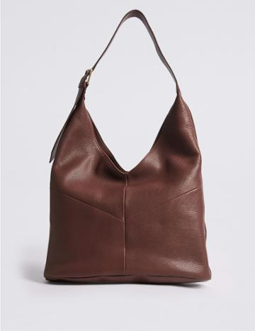 Marks & Spencer Leather Sling Hobo Bag Tan