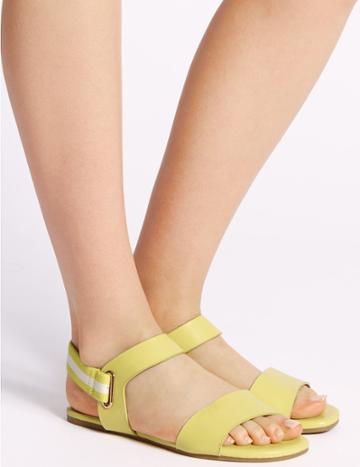 Marks & Spencer Elastic Ring Detail Sandals Lemon