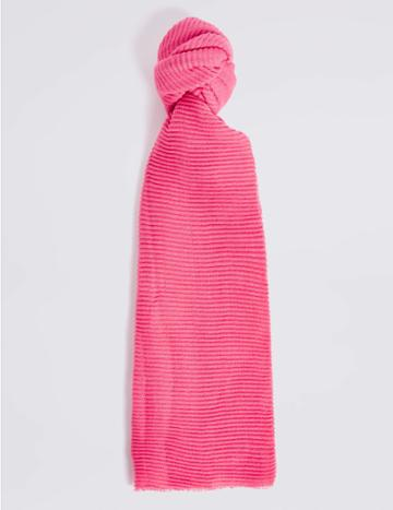 Marks & Spencer Textured Scarf Bright Pink