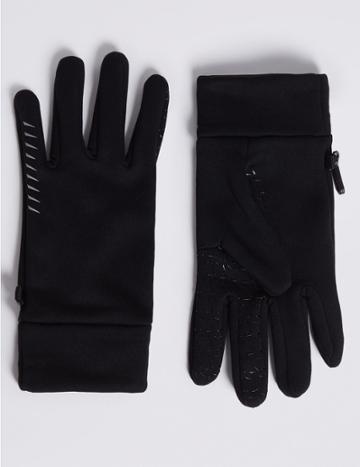 Marks & Spencer 4 Way Stretch Performance Gloves Black