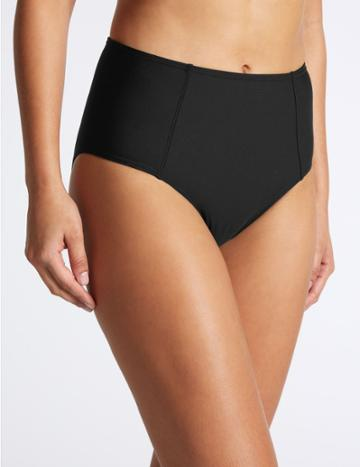 Marks & Spencer High Waisted Bikini Bottoms Black
