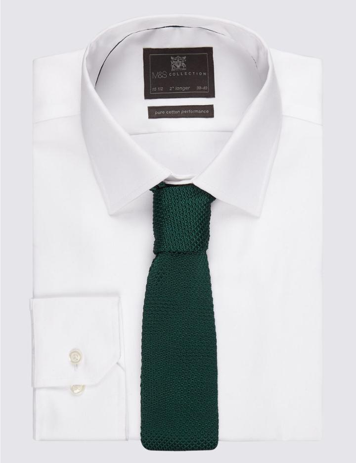 Marks & Spencer Knitted Tie Green Mix