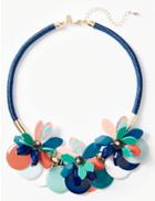 Marks & Spencer Flower Disc Necklace Coral Mix