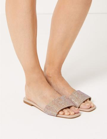 Marks & Spencer Diamant Mule Sandals Blush