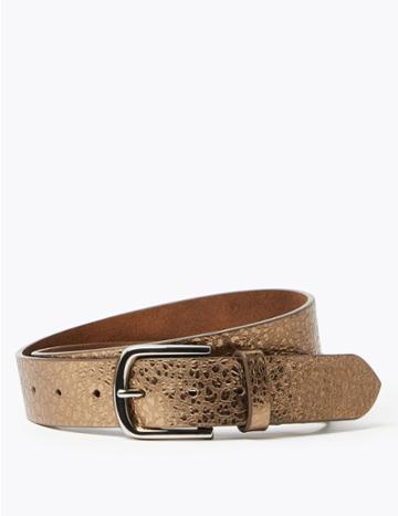 Marks & Spencer Leather Metallic Hip Belt Bronze