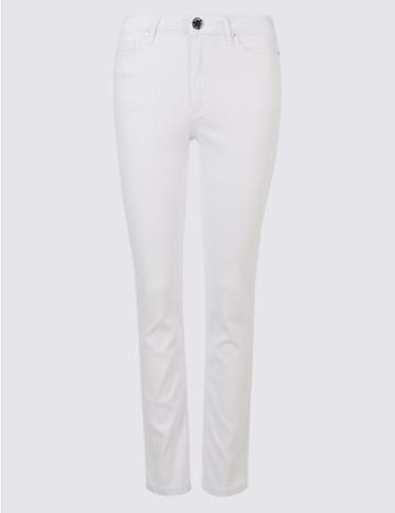 Marks & Spencer Sculpt & Lift Roma Rise Slim Leg Jeans Soft White