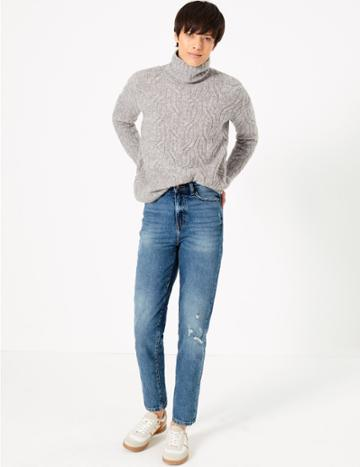 Marks & Spencer High Waist Cropped Jeans
