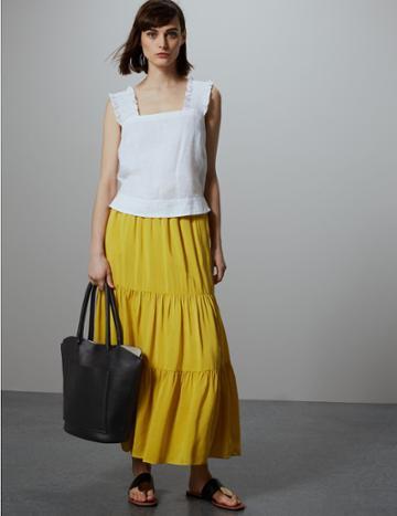 Marks & Spencer Leather Zip Detail Tote Bag Black Mix