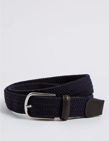 Marks & Spencer Stretch Web Buckle Belt Navy