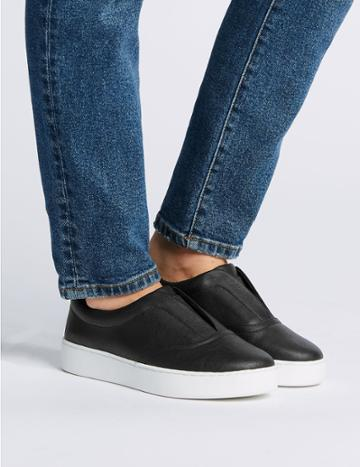 Marks & Spencer Extra Wide Fit Slip-on Trainers Black
