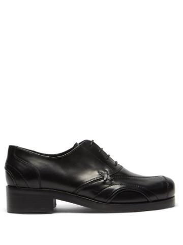 Matchesfashion.com Stefan Cooke - Panelled Leather Oxford Shoes - Mens - Black