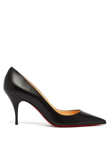Matchesfashion.com Christian Louboutin - Clare 80 Leather Pumps - Womens - Black