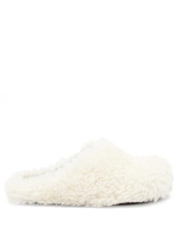 Ladies Shoes Marni - Shearling Mules - Womens - White