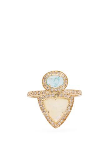 Jacquie Aiche Diamond, Opal & Yellow-gold Ring