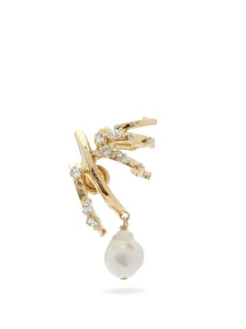 Matchesfashion.com Givenchy - Baroque-pearl Drop Single Earring - Womens - Gold
