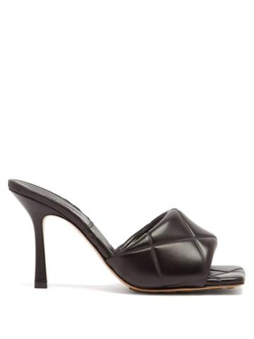 Matchesfashion.com Bottega Veneta - Bv Lido Intrecciato Quilted-leather Mules - Womens - Black
