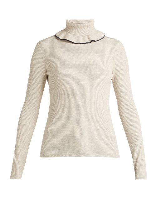 Matchesfashion.com See By Chlo - Ruffled Roll Neck Sweater - Womens - Cream