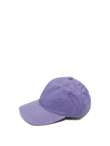 Matchesfashion.com Our Legacy - Technical-shell Baseball Cap - Mens - Purple