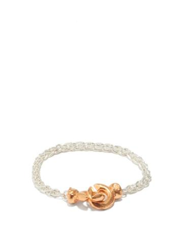 Alighieri - The Unwinding Answer 24kt Gold-plated Bracelet - Womens - Silver Gold