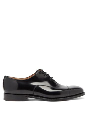 Matchesfashion.com Church's - Falmouth Square-toe Leather Oxford Shoes - Mens - Black