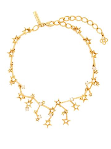 Oscar De La Renta Constellation Crystal-embellished Necklace