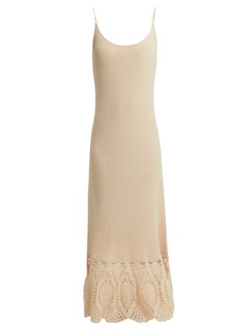 Ryan Roche Crochet-knitted Cashmere Camisole Dress