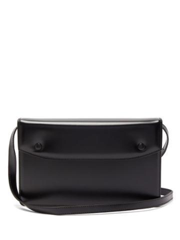Matchesfashion.com Maison Margiela - Accordion Pleated Leather Messenger Bag - Mens - Black