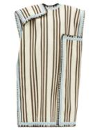 Matchesfashion.com Jil Sander - Knitted Stripe Poncho - Womens - Cream Multi