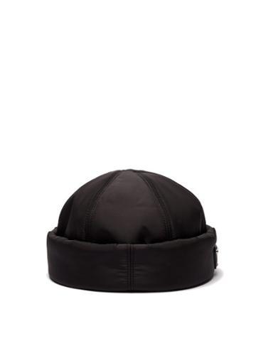 Matchesfashion.com Prada - Padded Nylon Beanie Hat - Mens - Black