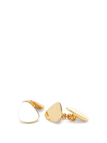 Matchesfashion.com Dominic Jones - Teeth 18kt Gold-plated Cufflinks - Mens - Gold