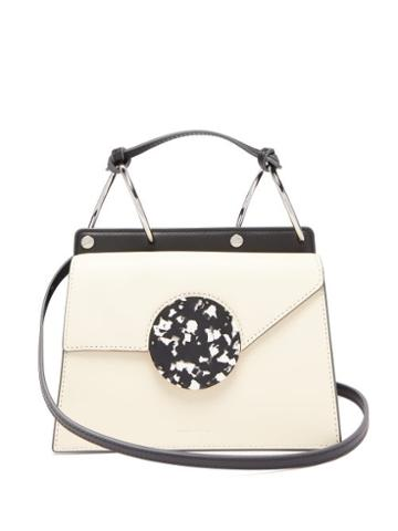 Matchesfashion.com Danse Lente - Phoebe Bis Two Tone Leather Bag - Womens - Cream Multi