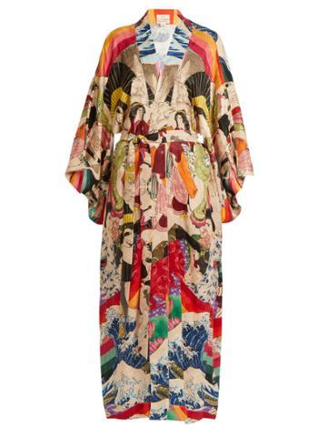 Chufy Trippin Printed Kimono