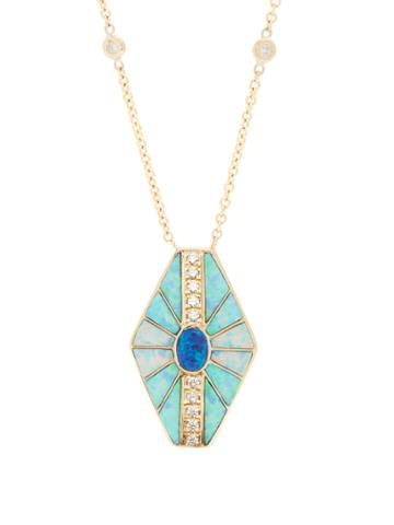 Jacquie Aiche Diamond, Opal & Yellow-gold Necklace