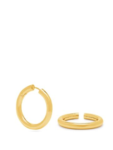 Alan Crocetti Control Gold-plated Earring And Cuff Set