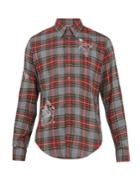Stella Mccartney Mythical Motif-embroidered Checked Shirt
