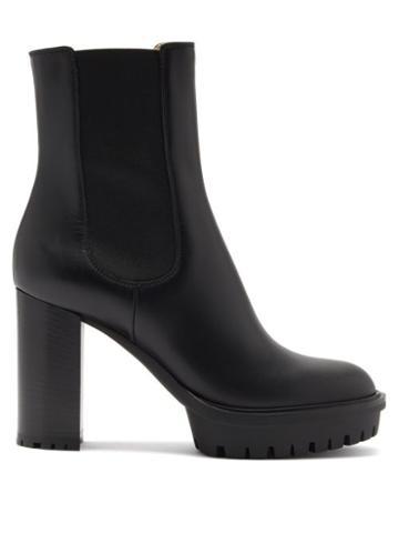 Matchesfashion.com Gianvito Rossi - Block-heel 110 Leather Boots - Womens - Black