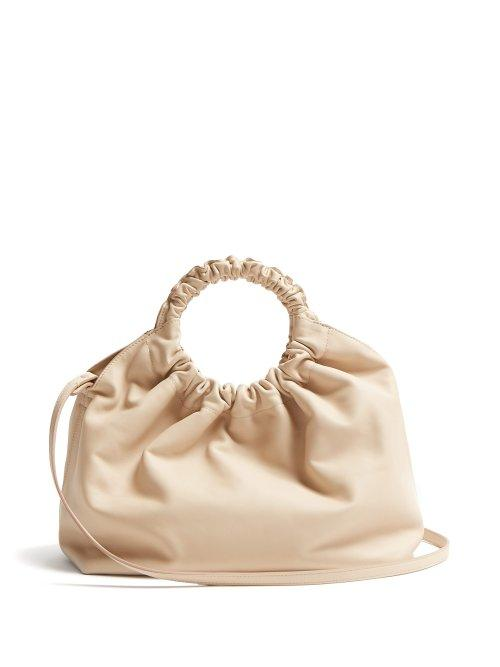 Matchesfashion.com The Row - Double Circle Xl Leather Bag - Womens - Cream