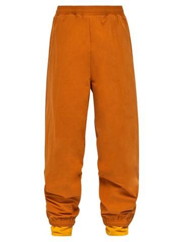 Matchesfashion.com Y/project - Double Layer Cotton Blend Track Pants - Mens - Orange