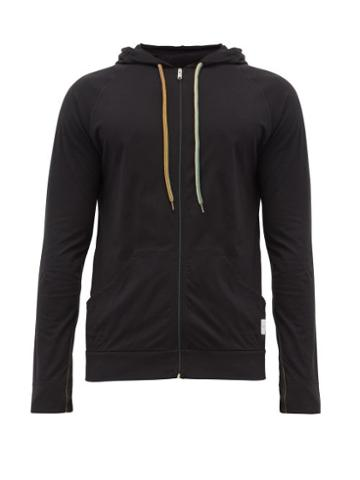 Matchesfashion.com Paul Smith - Zip Through Cotton Hooded Sweatshirt - Mens - Black