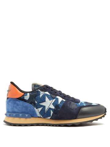 Valentino Rockrunner Embellished Low-top Trainers