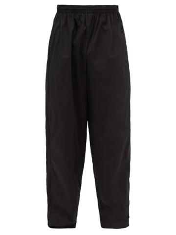 Balenciaga - Logo-embroidered Cotton-jersey Track Pants - Mens - Black