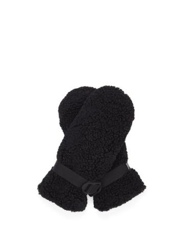 Matchesfashion.com Holden - Sherpa Faux-shearling Mittens - Womens - Black