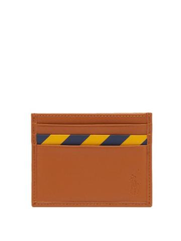 Matchesfashion.com Polo Ralph Lauren - Striped Leather Cardholder - Mens - Tan
